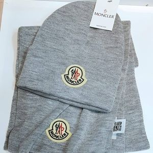 NWT MONCLER HAT - NEW COLLECTION GREY